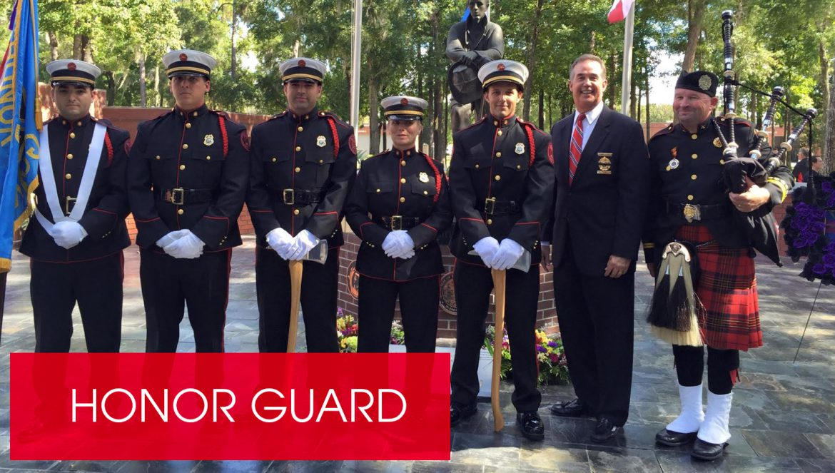 The Palm Harbor Fire Rescue Honor Guard