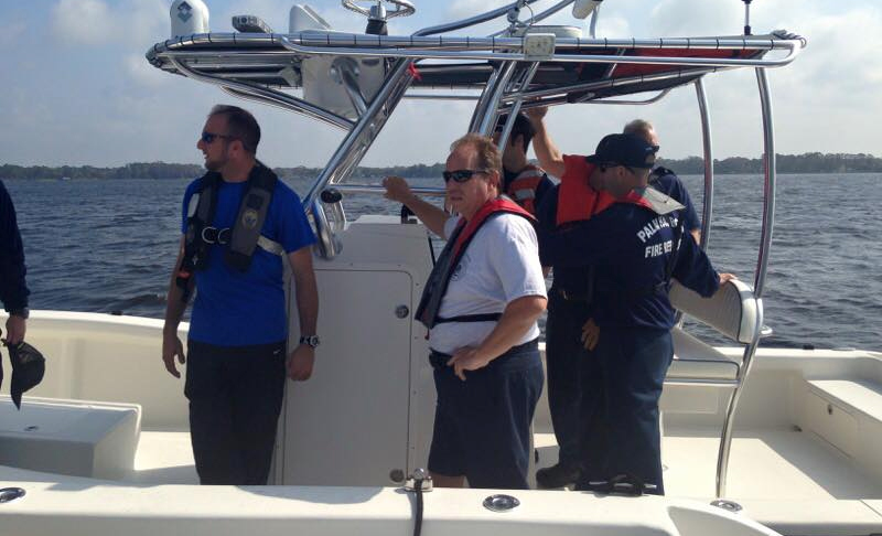 Palm Harbor Fire Rescue Team on Fireboat 68